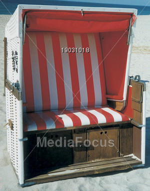 Beach Chair Stock Photo