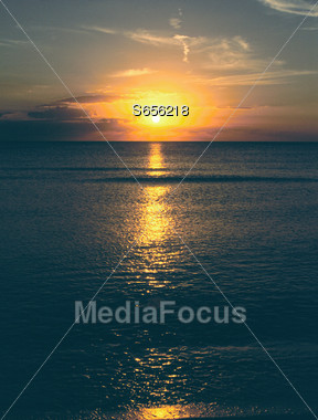 Beach Sunset Stock Photo
