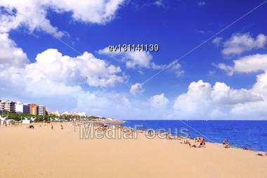 Beaches, Coast In Spain Near Barcelona Stock Photo