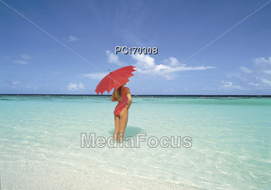 Beaches with Crystal Clear Water Stock Photo