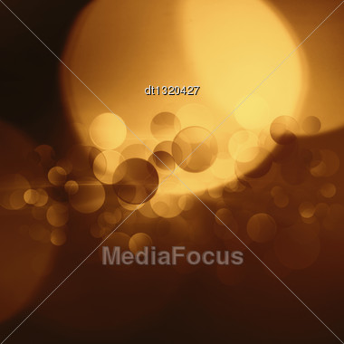 Beautiful Abstract Bokeh Over Bright Blue Backgrounds Stock Photo