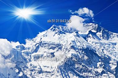 Beautiful Annapurna Mountain, Himalaya, Nepal Stock Photo