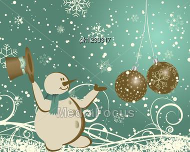 Beautiful Christmas (New Year) Card. Stock Photo