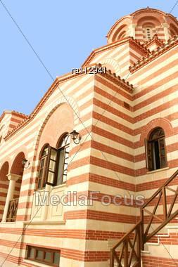 Beautiful Church In Cyprus,Limassol Stock Photo
