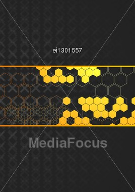 Beautiful Creative Background With Technical Elements Stock Photo