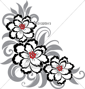Decorative Flower Designs Beautiful decorative floral