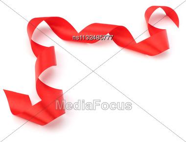 Beautiful Gift Ribbon Isolated On White Background Stock Photo