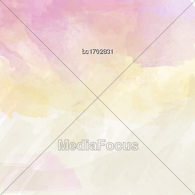 Beautiful Hand Painted Watercolor Background, Vector Illustration Stock Photo