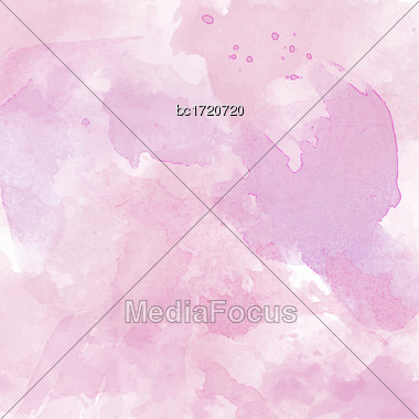 Beautiful Hand Painted Watercolor Background, Vector Format Stock Photo