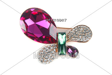 Beautiful Jewelry Hairpin-butterfly Stock Photo