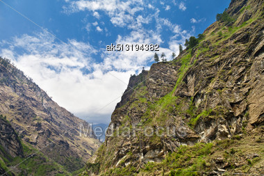 Beautiful Landscape In Himalayas, Annapurna Area, Nepal Stock Photo