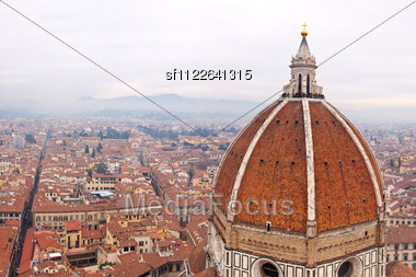 Beautiful Renaissance Cathedral Santa Maria Del Fiore In Florence, Italy Stock Photo