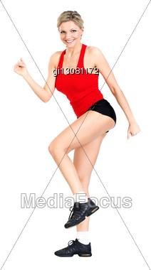 Beautiful, Sexy Athlete Stock Photo