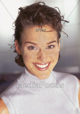 Beautiful Smile - Young Woman Stock Photo
