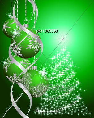 Beautiful Vector Christmas (New Year) Background Stock Photo