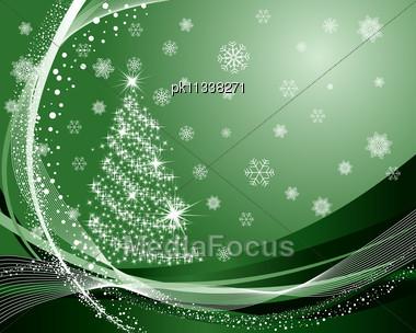 Beautiful Vector Christmas (New Year) Card Stock Photo