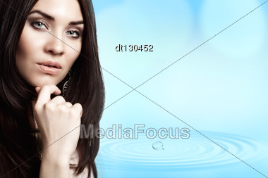 Beauty And Freshness. Abstract Female Portrait With Copy Space Stock Photo