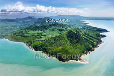 Beauty Islands, View From The Plane Stock Photo