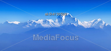 Beauty Sunrise At Himalayas (Dhaulagiri) From Poon Hill Viewpoint Stock Photo