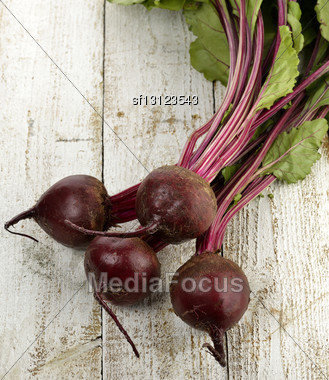 Beetroots On Wooden Background ,Top View Stock Photo