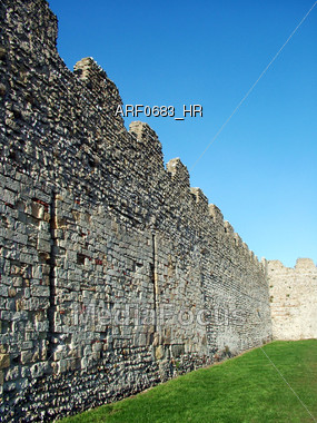 Behind The Castle Walls Stock Photo