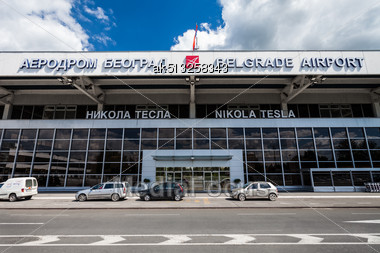 BELGRADE, SERBIA - MAY 14: Belgrade Nikola Tesla Airport On May, 14, 2013, Belgrade, Serbia. Aerodrom Nikola Tesla Is The Primary International Airport Serving Belgrade, Serbia Stock Photo