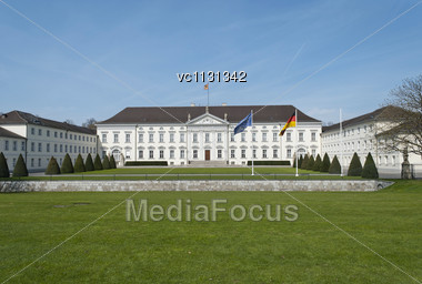 Bellevue Palace (German: Schloss Bellevue) In Berlin, Official Residence Of The President Of Germany Stock Photo