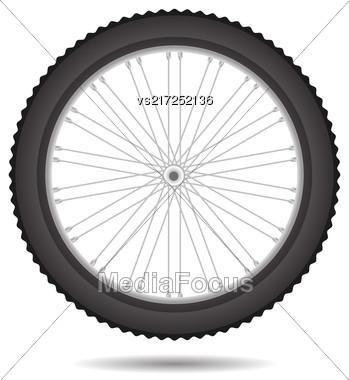 Bicycle Wheel Icon Isolated On White Background Stock Photo