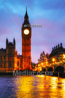 Big Ben Tower In London In The Early Morning Stock Photo