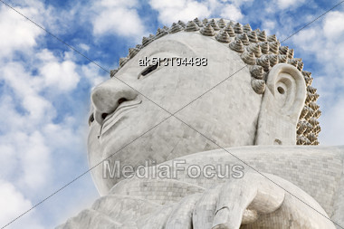 Big Buhhha Statue On Phuket Island Stock Photo