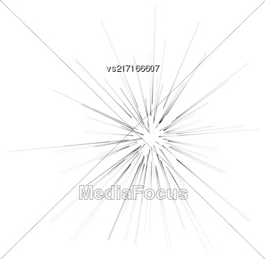 Big Burst Isolated On White Background. Explosion Of Star Stock Photo
