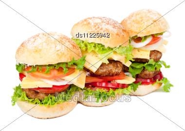 Big Hamburgers Stock Photo