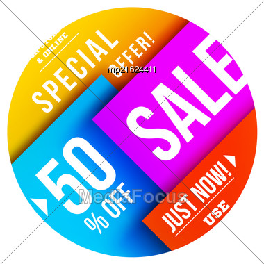 Big Sale Illustration. Vector Illustration. Material Design Stock Photo