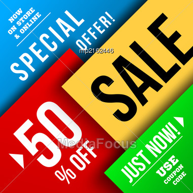 Big Sale Illustration. Vector Illustration. Material Design Stock Photo
