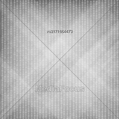 Binary Code Background. Concept Binary Code Numbers. Algorithm Binary, Data Code, Decryption And Encoding Stock Photo