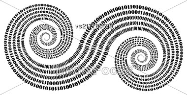 Binary Code Background. Numbers Concept. Algorithm, Data Code, Decryption And Encoding Stock Photo