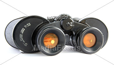 Binoculars With Yellow Filter Stock Photo