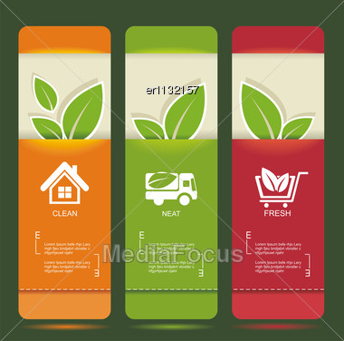 Bio Concept Design Eco Banners Stock Photo