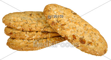 Biscuits With Cereals Stock Photo