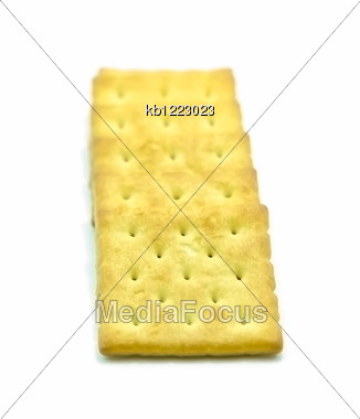 Biscuits Isolate Sort On White Back Ground Stock Photo