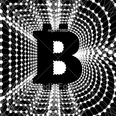 Bitcoin - Electronic Form Of Money And Innovative Payment Network. Vector Illustration Stock Photo