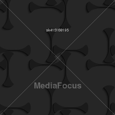 Black 3D Seamless Background. Dark Pattern With Realistic Shadow.Black 3d Shapes Forming Squares Stock Photo