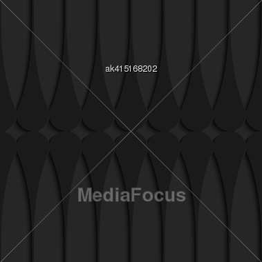 Black 3D Seamless Background. Dark Pattern With Realistic Shadow.Black 3d Horizontal Juggling Clubs Touching Stock Photo