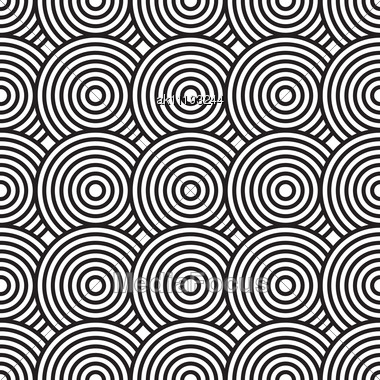 MySpace Black And White Interlocking Circles Background | Twitter