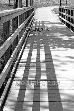 Black and White Bridge Stock Photo