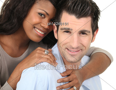 Black And White Duo Stock Photo