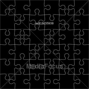 Black Background Vector Illustration Jigsaw Puzzle Stock Photo