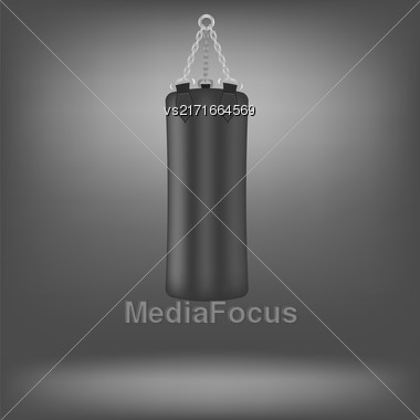 Black Boxing Bags Isolated On Grey Background Stock Photo