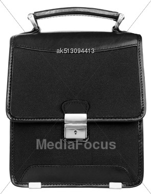 Black Briefcase Isolated On White Stock Photo