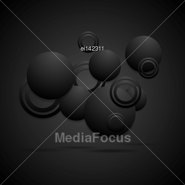 Black Concept Abstract Background. Vector Circles Eps 10 Stock Photo